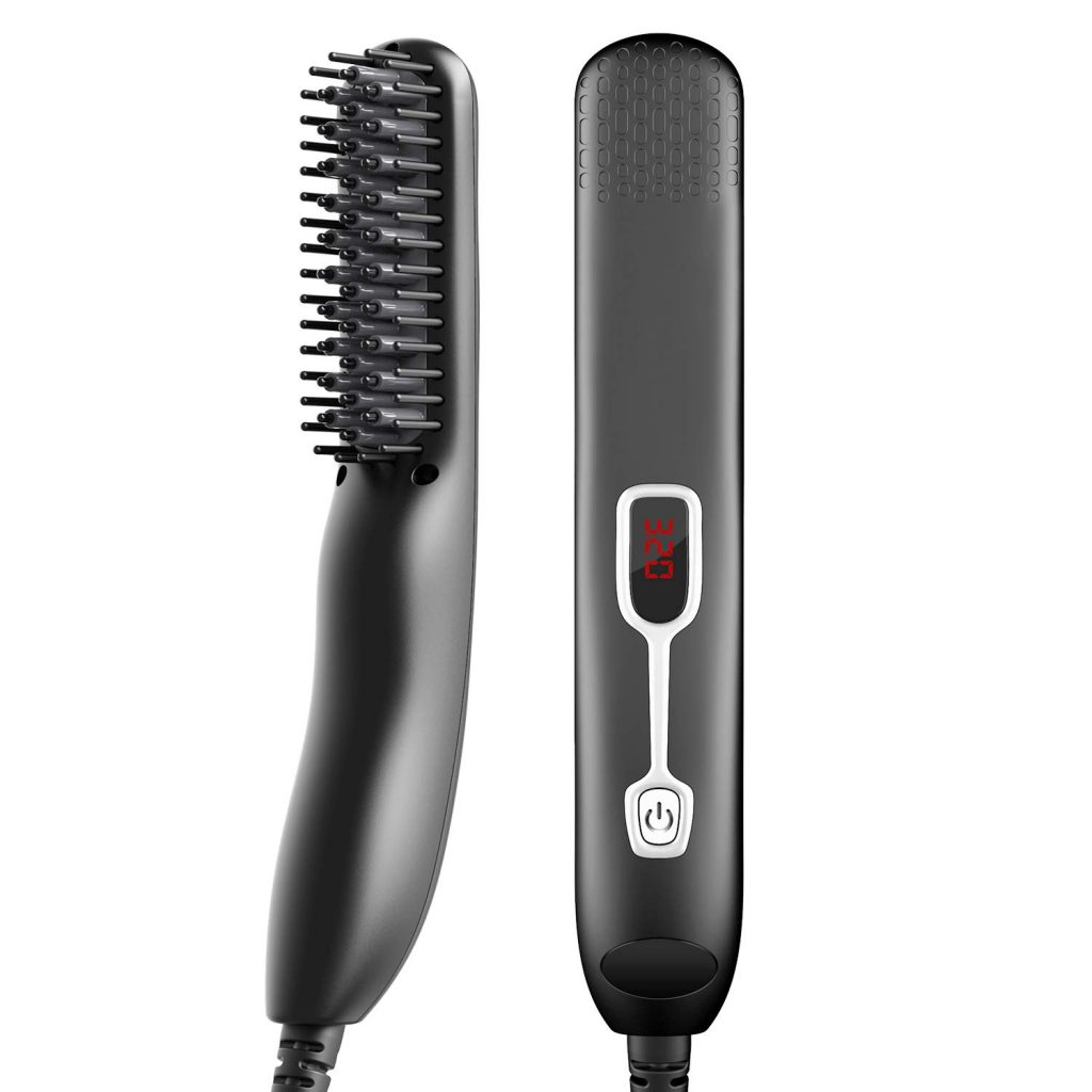 MANNVLO Beard Straightener for Men