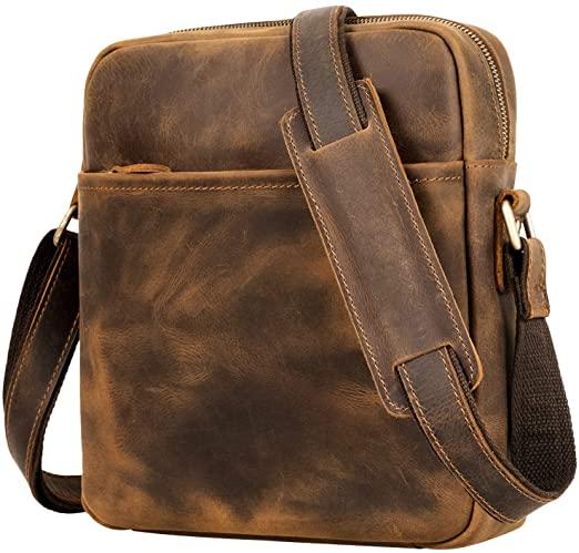 Messenger Leather Bag for Men, Jack&Chris