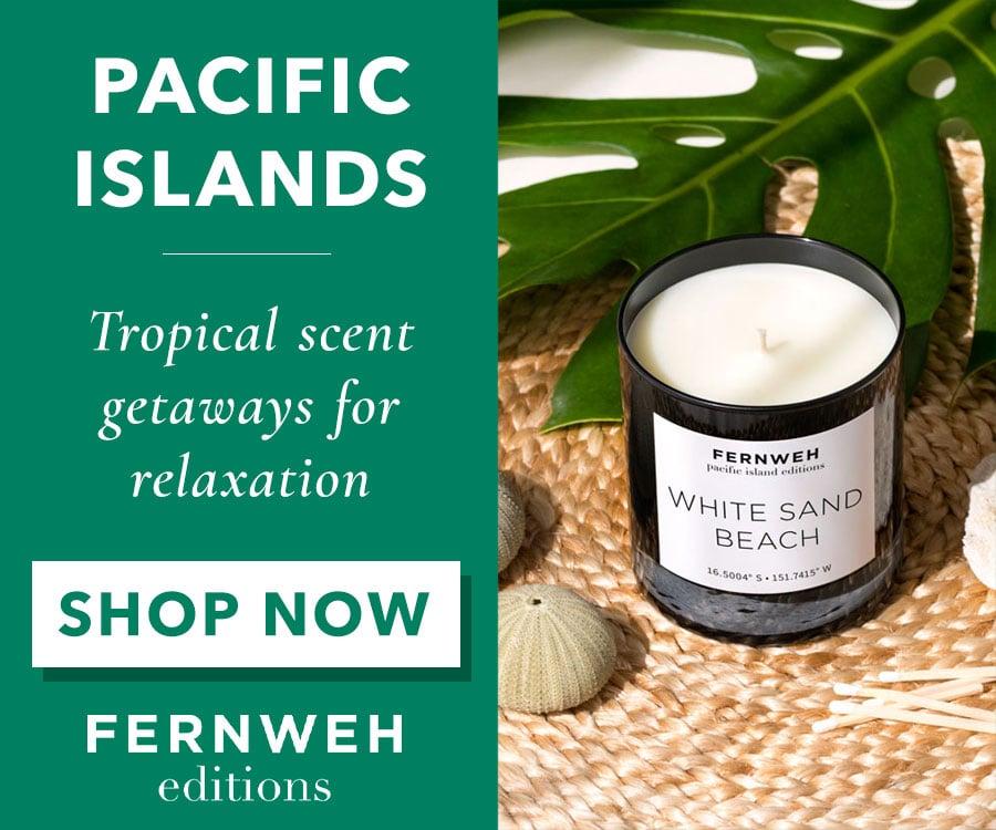 Fernweh White Sand Beaches Candle