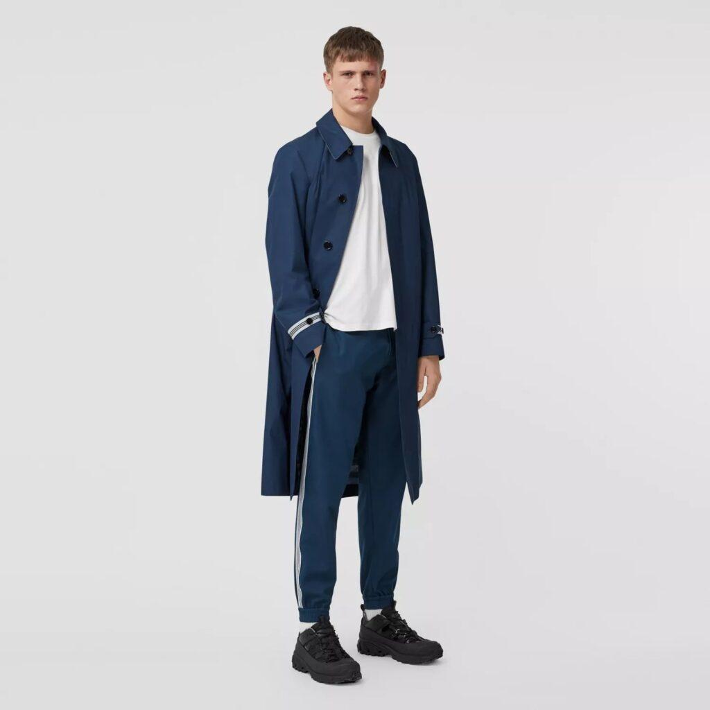 Men's Best Pants - Burberry Stripe Detail Technical Wool Jogging Pants