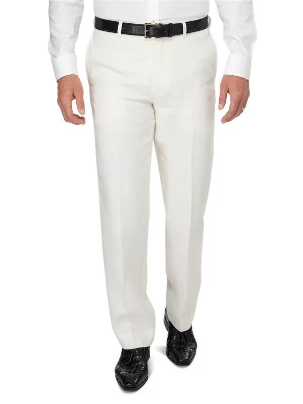 Men's Best Pants - Paul Fredrick Men's Linen Flat Front Pant