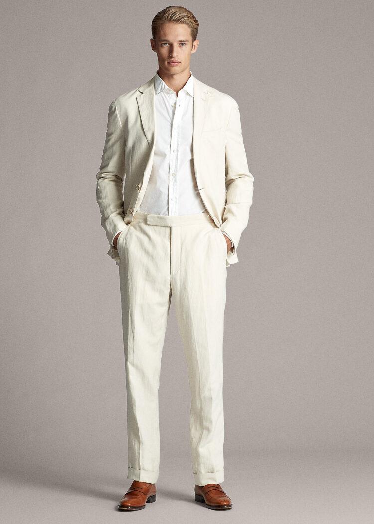 Men's Best Pants - Ralph Lauren Gregory Linen-Silk Twill Suit Trouser