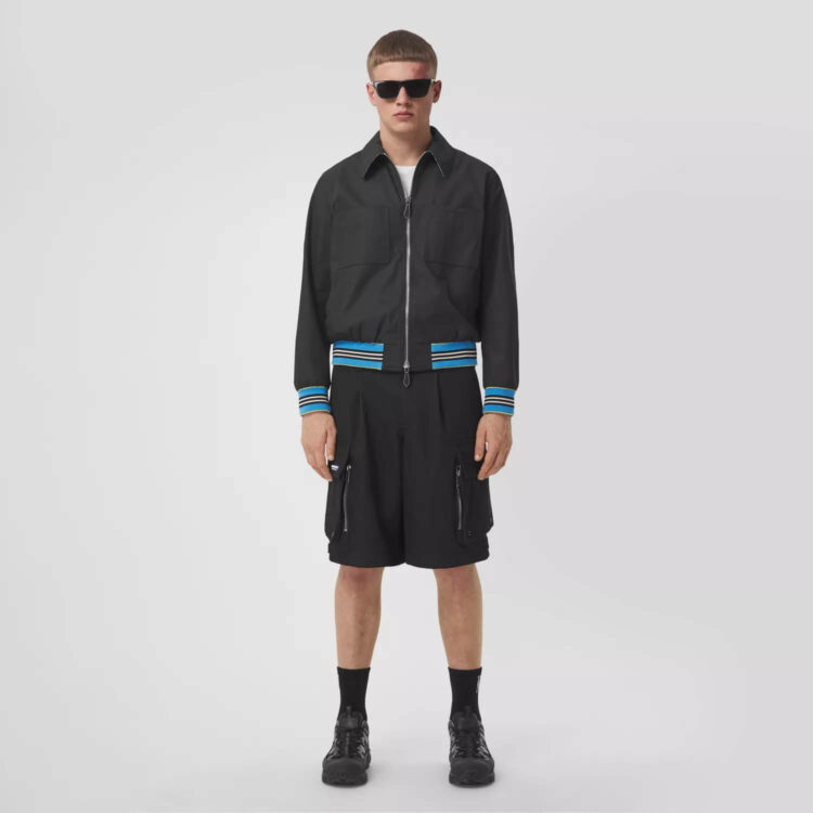 Burberry Technical Wool Cargo Shorts