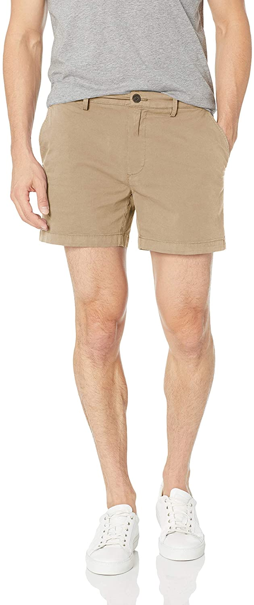 Goodthreads Men's Slim-Fit 5 Inseam Flat-Front Comfort Stretch Chino Shorts
