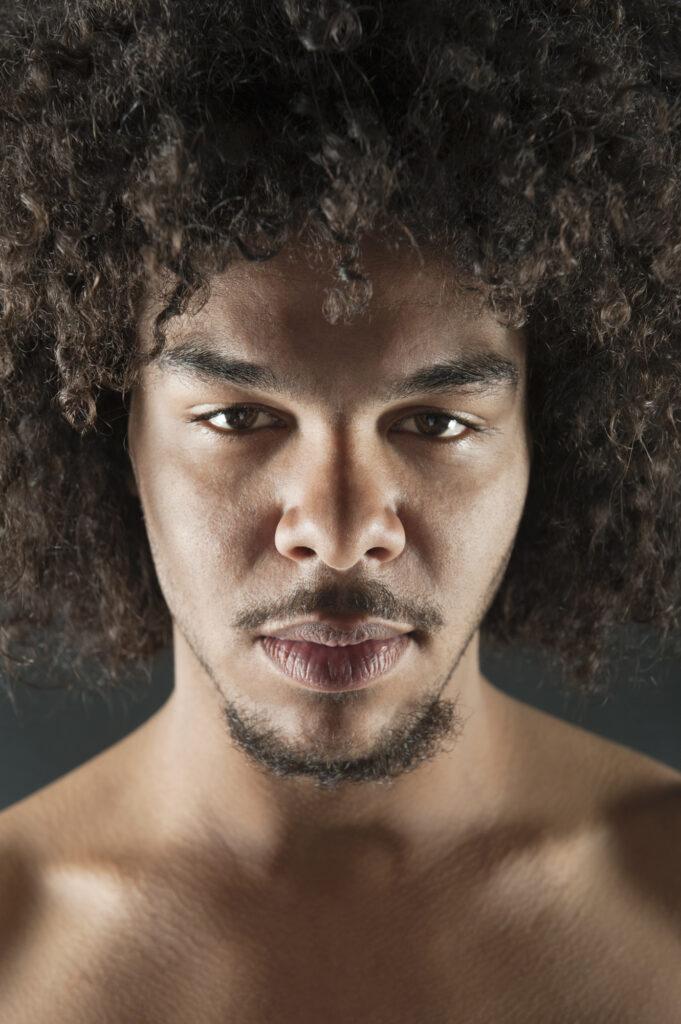 van dyke beard Portrait of a confident young man