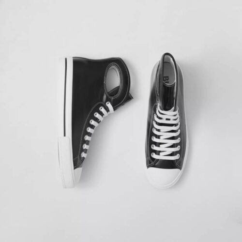 Sneakers Hugo Boss Porthole DetailLeather High-top Sneakers