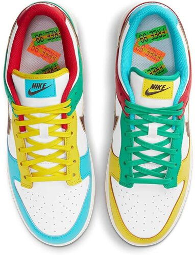 Sneakers Nike Mens Dunk Low SE_Free 99 White Basketball Sneakers