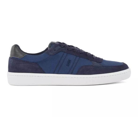 Sneakers Hugo Boss Cupsole trainers in SEAQUAL fabric with suedetrims