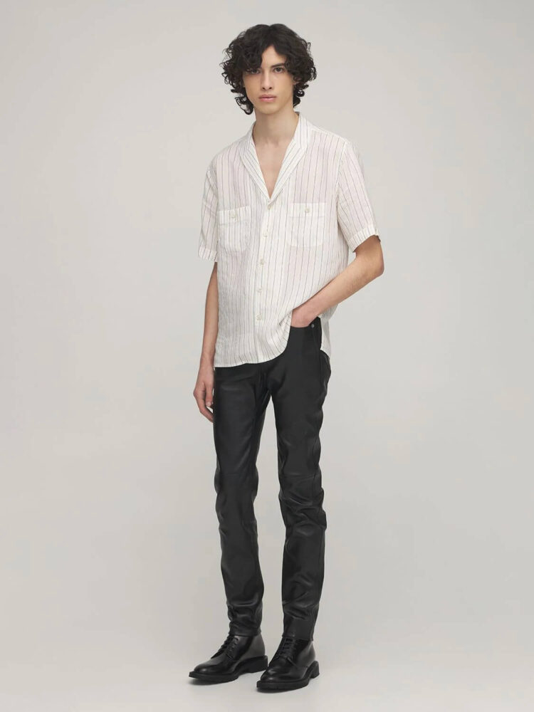 Leather Pants Saint Laurent 15.5CM SKINNY LEATHER PANTS