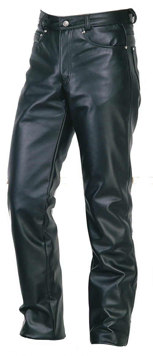Leather Pants Schott NYC Straight Leg Steerhide Leather Jeans
