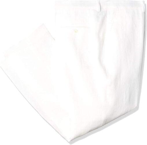 Tommy Hilfiger Men's Pant Modern Fit White Linen