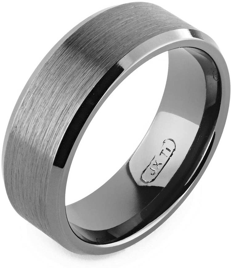 Alain Raphael Black Titanium Ring Handmade 7mm Wide Comfort fit Customizable Ring Made in Canada