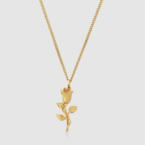 CRAFTD London Rose Gold Pendant Necklace