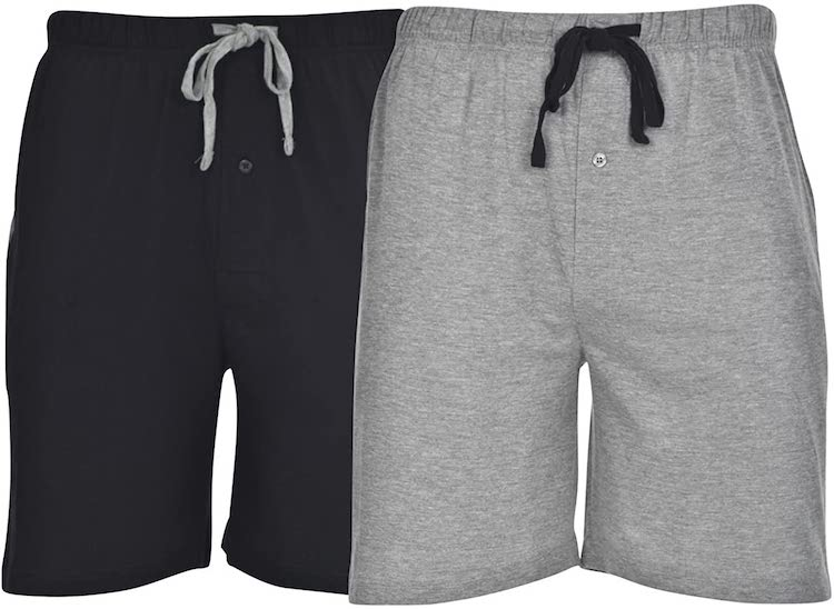 Hanes Men's 2-Pack Cotton Lounge Drawstring Knit Shorts