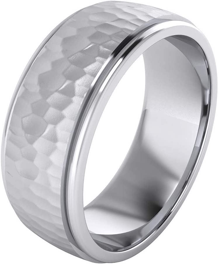 Heavy Solid Sterling Silver Wedding Band