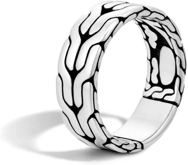 John Hardy Men's Classic Chain Silver Band Ring