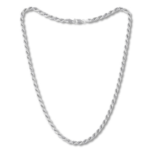 Kay Men's Rope Chain Necklace Sterling Silver, 22