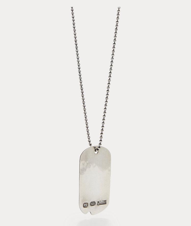 Ralph Lauren RRL Silver Dog-Tag Necklace