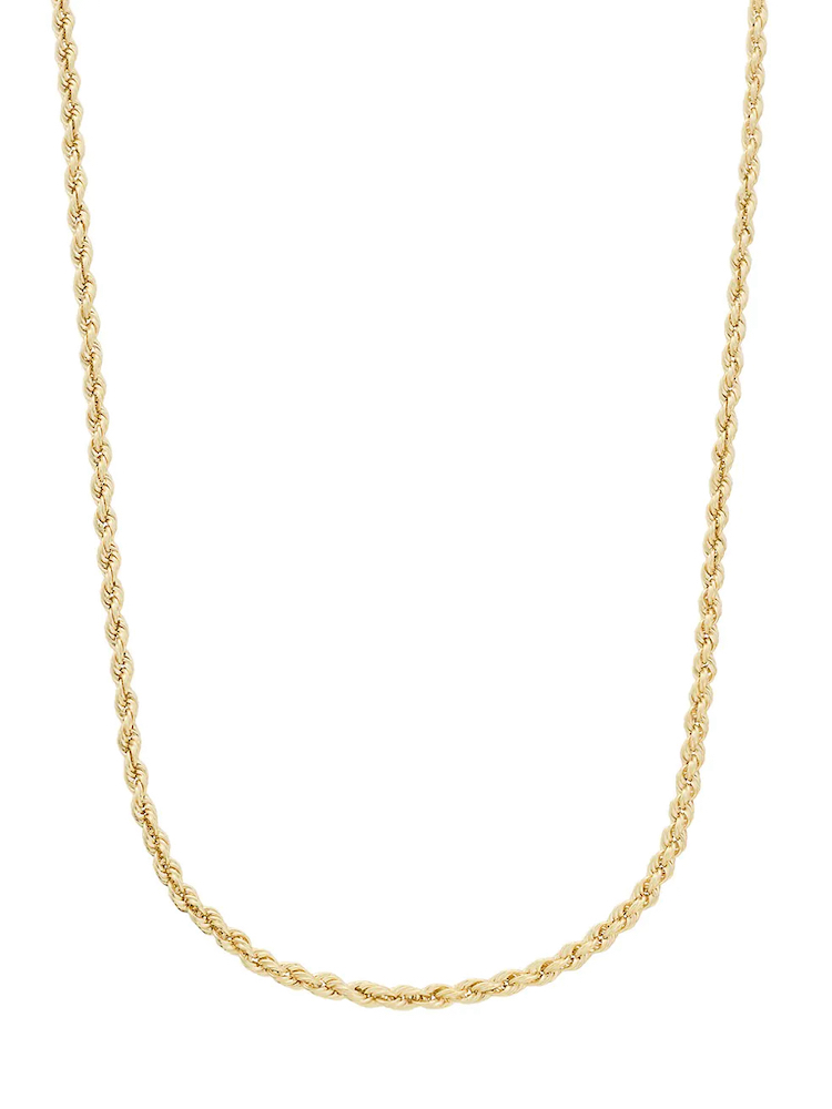 Saks Fifth Avenue 14K Yellow Gold Rope Chain Necklace