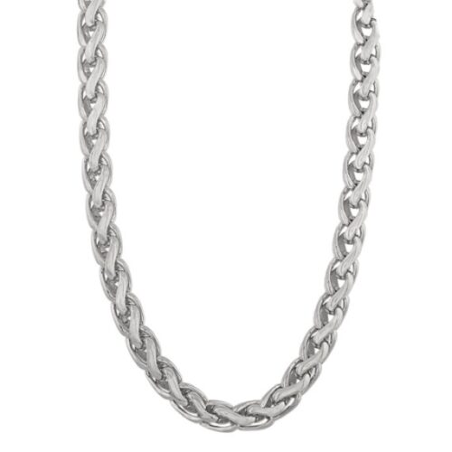 Shane Co. 20 Inch Men's Wheat Chain in Sterling Silver