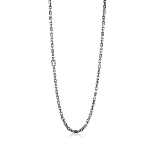 Tiffany 1837 Makers Tumbled Chain Necklace in Sterling Silver, 24