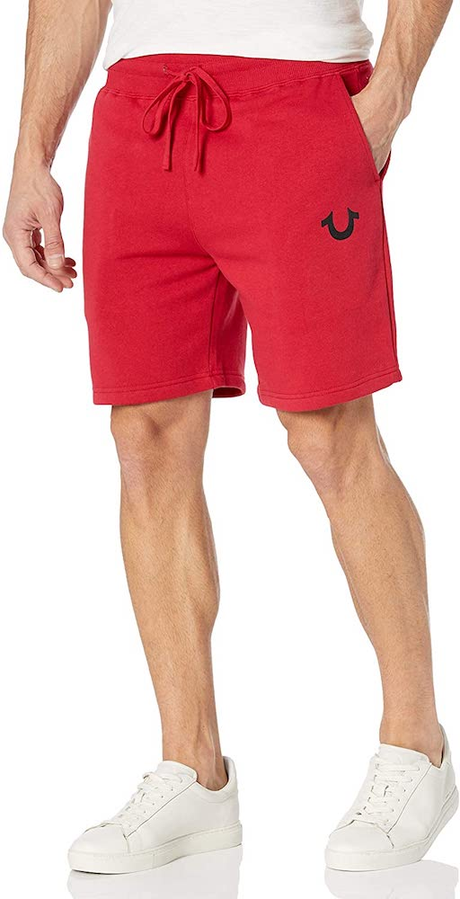 True Religion Men's High Waisted Relaxed Fit Sweatshort