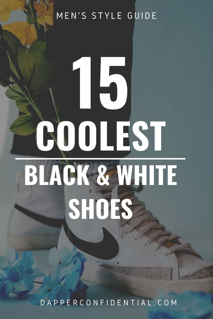 coolest black and white shoes