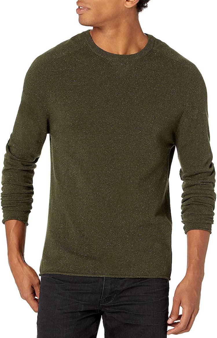 Billy Reid Men's Cashmere Silk Saddle Crew Sweater