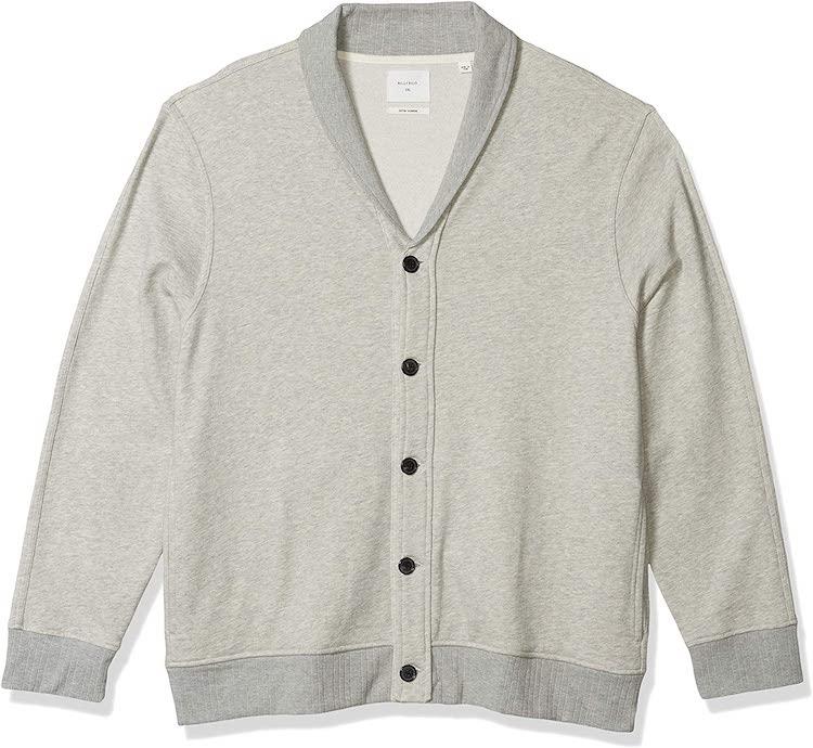 Billy Reid Men's Cotton Cashmere Terry Shawl Collar Cardigan Sweater Jacket