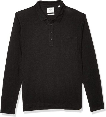 Billy Reid Men's Long Sleeve Cashmere Polo with Pocket