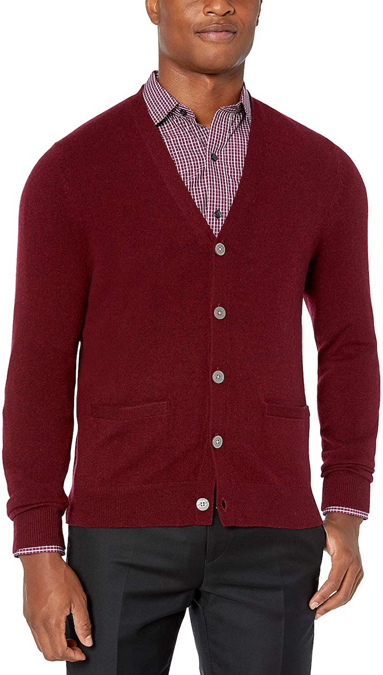 Buttoned Down Men's Cashmere Cardigan Sweater