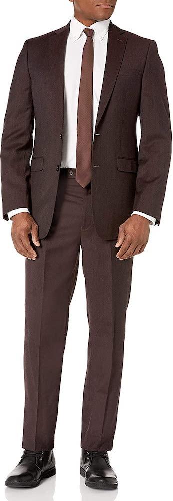 Calvin Klein Mens Slim fit 2 Piece Two Button Formal Suit