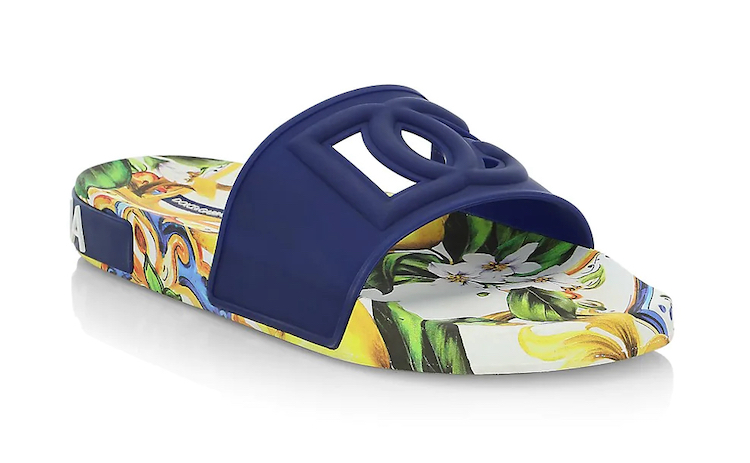 Dolce & Gabbana Lemon-Print Capsule Slides