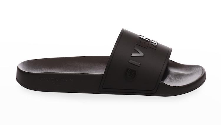 Givenchy Logo Embossed Pool Slide Sandals