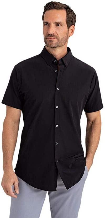 Mizzen + Main Men's Leeward No Tuck Button Down Short Sleeve Shirt