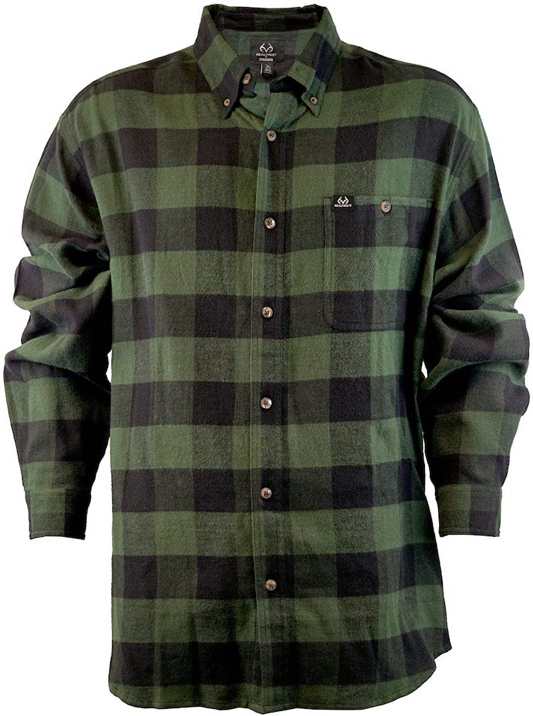 Staghorn Men's Realtree Long Sleeve Plaid Flannel