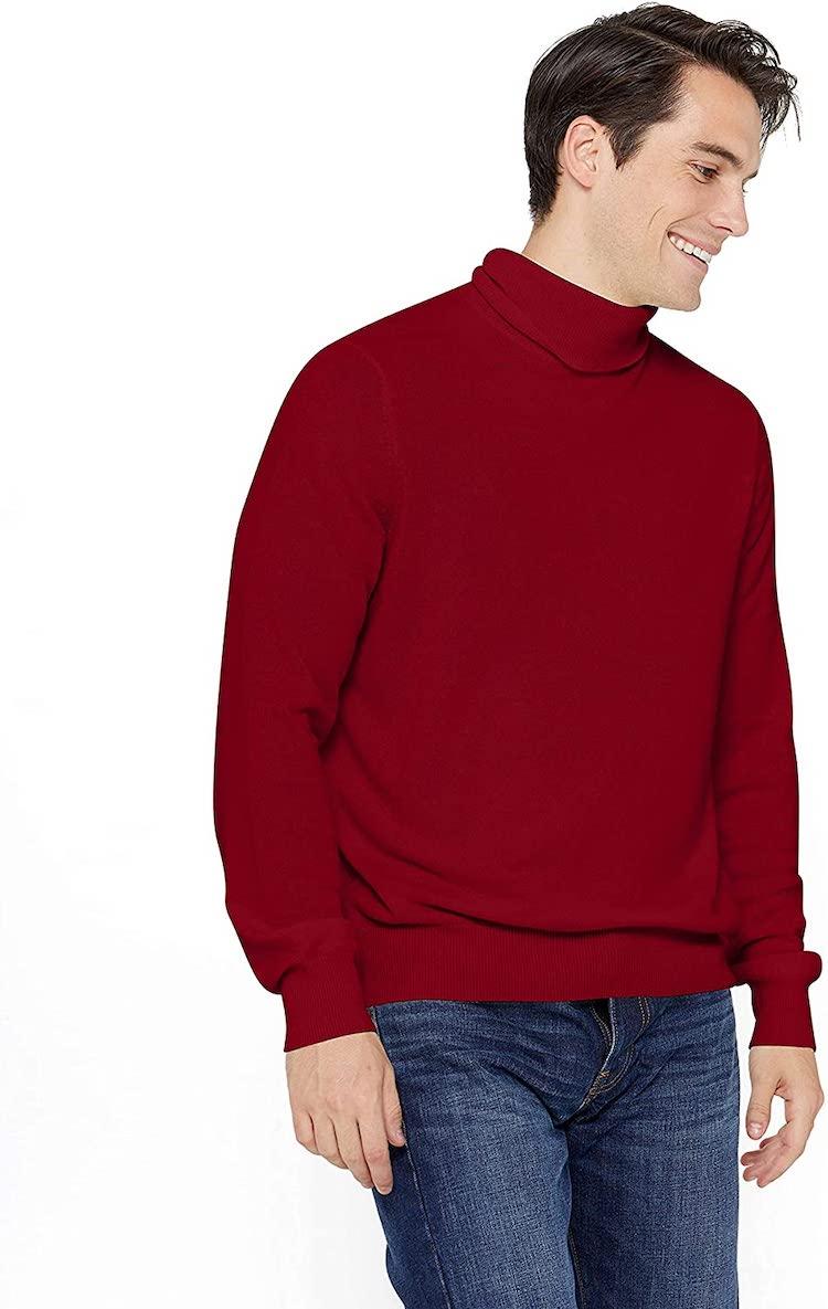 State Cashmere Men's Classic Turtleneck Sweater