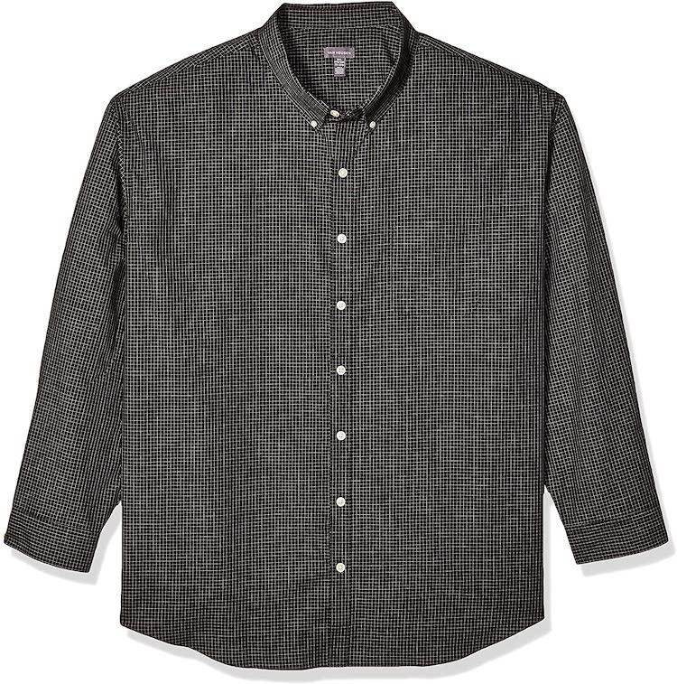 Van Heusen Men's Big and Tall Wrinkle Free Long Sleeve Button Down Shirt