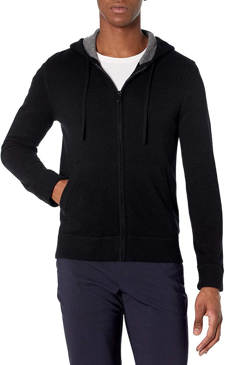 Vince Men's Cashmere Full Zip Hoodie