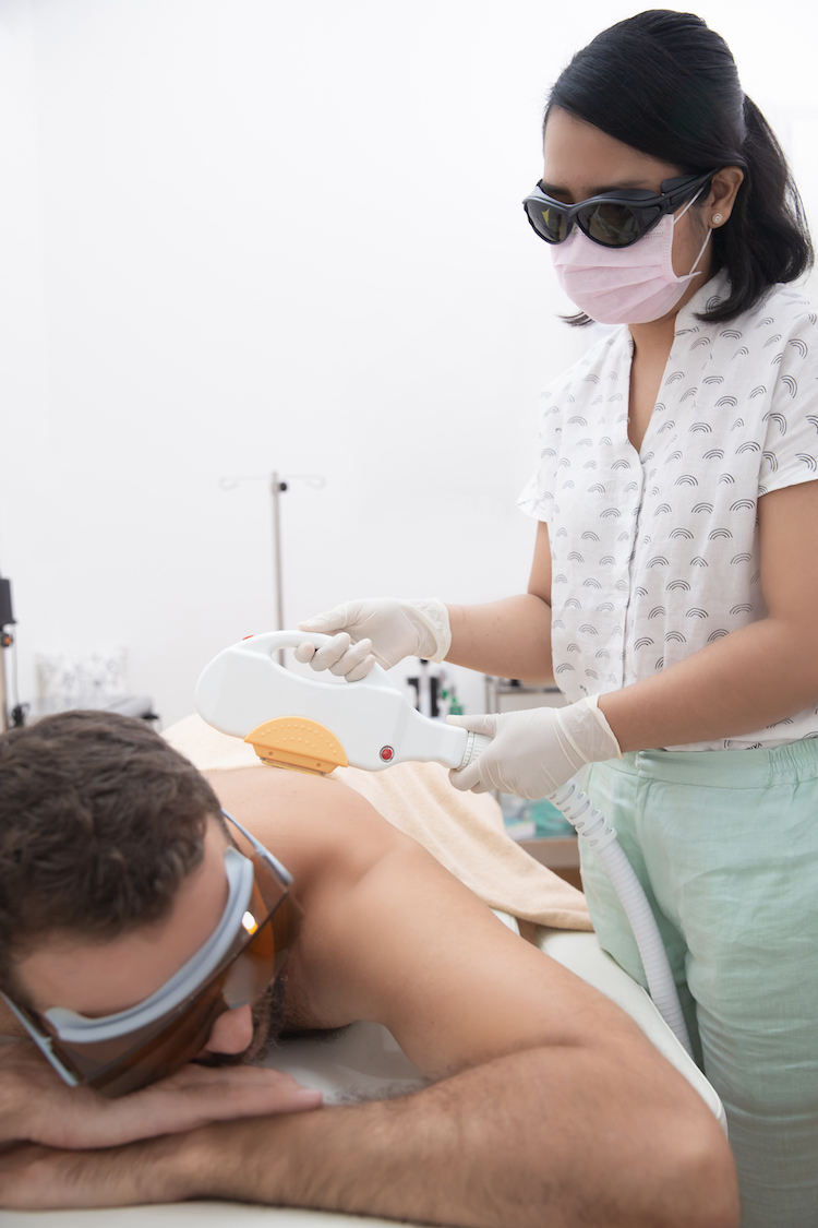 back hair removal using electrolysis