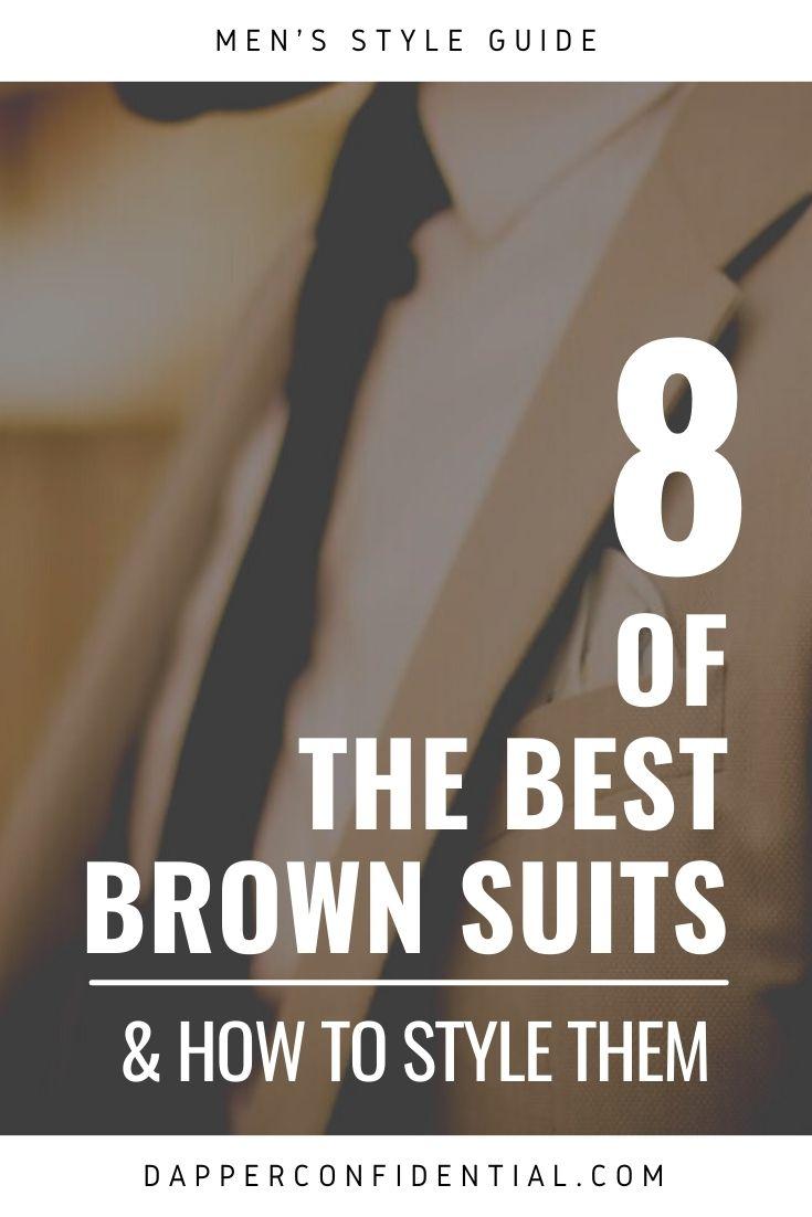 best brown suits for men