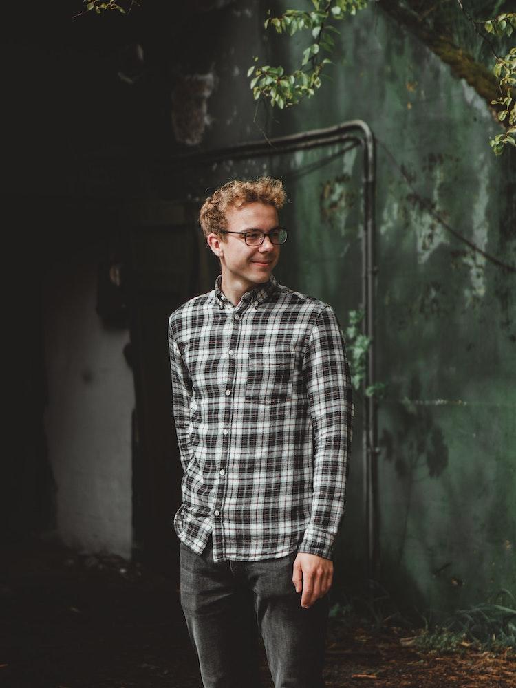 man in a cool plaid shirt