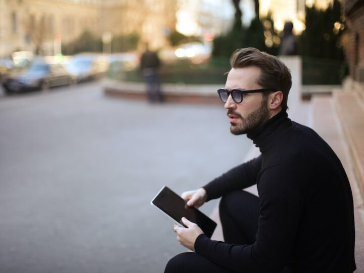 man wearing cashmere sweater cover